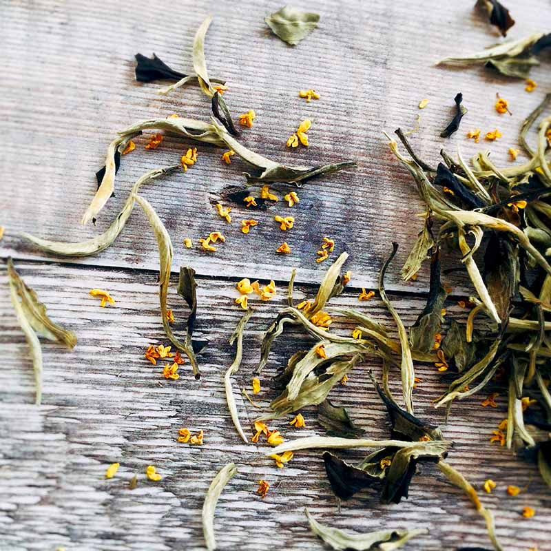 osmanthus flower white tea