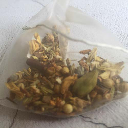 organic herbal relief tea bag