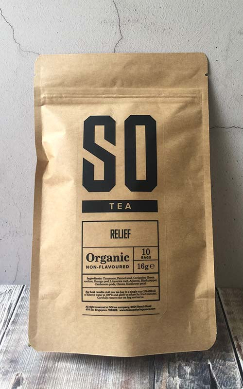 organic herbal relief tea singapore