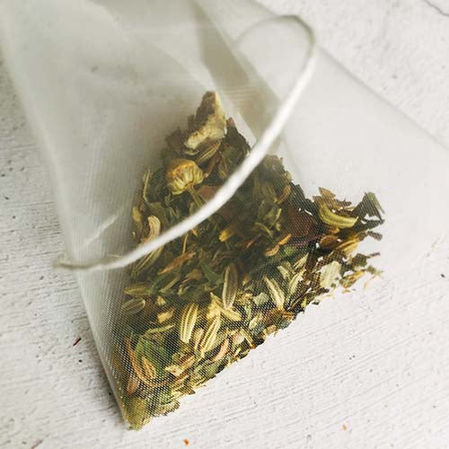organic herbal chamomile tea bag