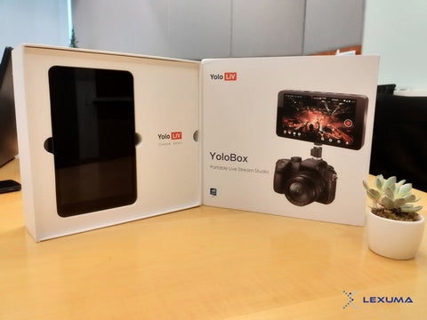 YoloLiv YoloBox Unboxing Product Review with simple setup overview with the 7 inch monitor