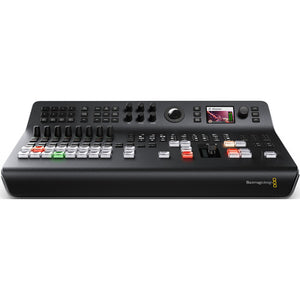 Blackmagic Design ATEM Television Studio Pro HD Live Production Switcher side view control panel live video live streaming front view