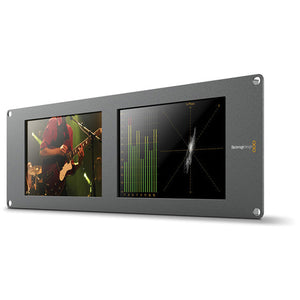 Blackmagic Design SmartScope Duo 4K Rack-Mounted Dual 6G-SDI Monitors side view