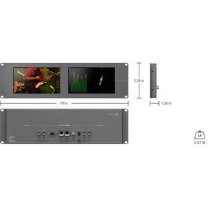 Blackmagic Design SmartScope Duo 4K Rack-Mounted Dual 6G-SDI Monitors size info