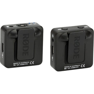 Rode Wireless GO Compact Digital Wireless Microphone System black color back