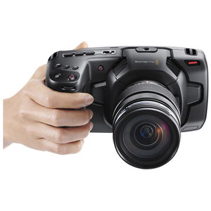 Blackmagic Design Pocket Cinema Camera 4K/Pro Monitoring Kit using the camera