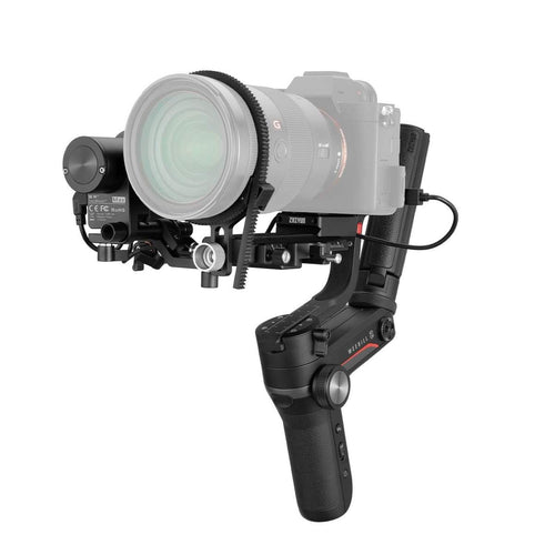 ZHIYUN Weebill-S Compact 3-Axis Handheld Gimbal Stabilizer for Mirrorless and DSLR Cameras & Lens Combos features overview without tripod side