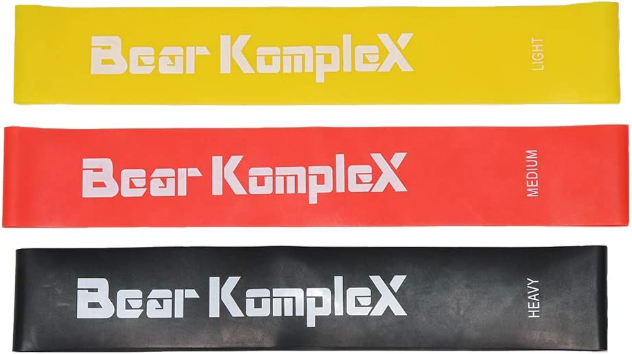 Bear KompleX Resistance Loop Bands for Home Workouts, Set of 3 Levels for Hip and Glute Activation, Core Strength, Mobility, or Strength Training, For Men and Women, Fitness PDF Included With Purchase
