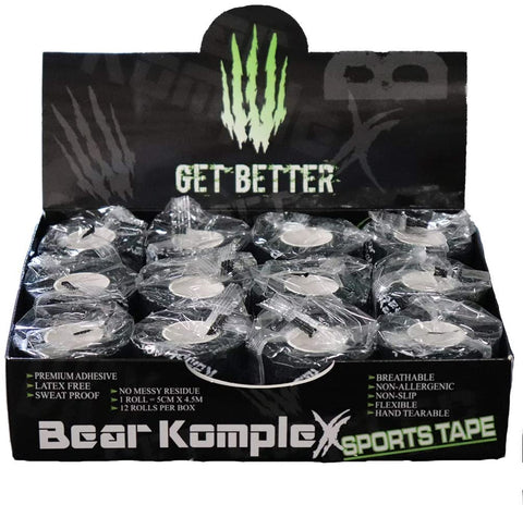 Bear Komplex Athletic Sports Tape, 12 Pack