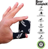Bear Komplex Athletic Sports Tape, 12 Pack of Premium Adhesive Wrap, 5 cm Tape, Sweatproof, Breathable, and Non-Slip for Lifting, Crossfit, and Hook Grip, Hypoallergenic and Latex Free (Tape 12 Pack)