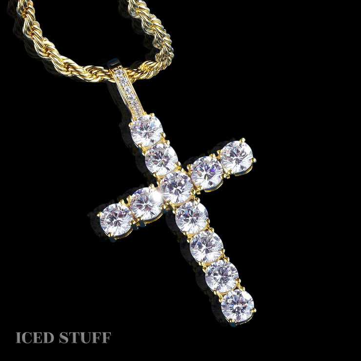 DIAMOND CROSS ZŁOTO