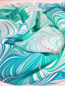 Seashore silk scarf