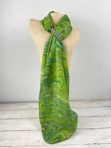 Green Goddess silk scarf