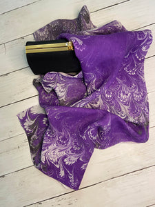 """Purple Lovers Only"" Silk Scarf"