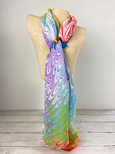 """Rainbow Bright"" Silk Scarf"