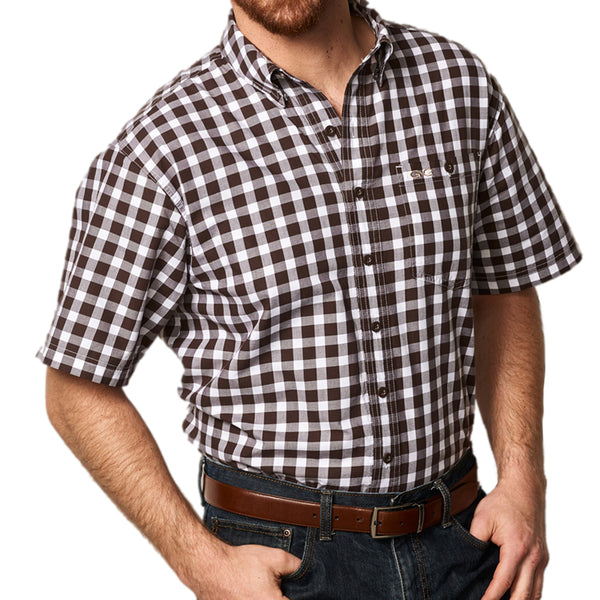 Chocolate Check Cotton Shirt