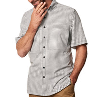 White TekCheck Shirt | Pop