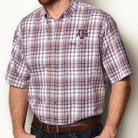 GameGuard Texas A&M University Maroon Plaid Shirt