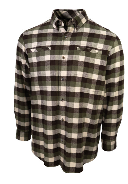 Olive Flannel Shirt