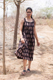 Black Bagru Print Dress cum Kurta