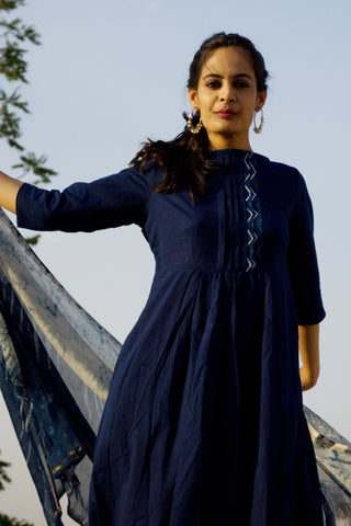 Indigo Cotton Kurta