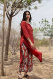 Madder Kurta and Blockprint Palazzo