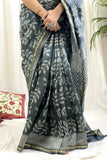 Charcoal Chanderi Saree