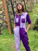 Load image into Gallery viewer, Two-Tone Boiler Suit- Purple & Lilac