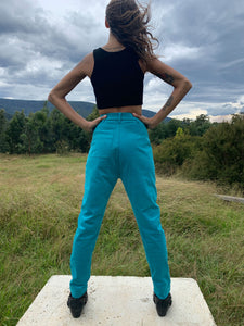 Corduroy Cigarette Pants- Teal