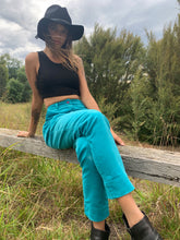 Load image into Gallery viewer, Corduroy Cigarette Pants- Teal