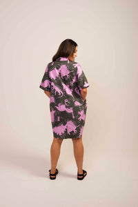 Batwing Shirt Dress- Dinosaur