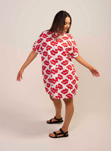 Load image into Gallery viewer, Batwing Shirt Dress- Lips