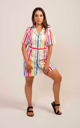 Short Boiler Suit- Stripe