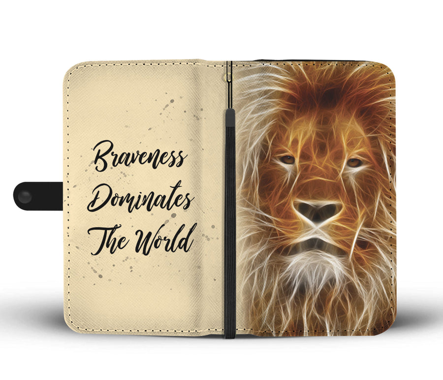 Lion Wallet Phone Case-Beyoubebuddha
