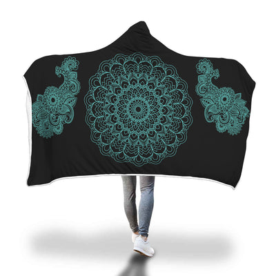 Blue Mandala Hooded Blanket-Beyoubebuddha