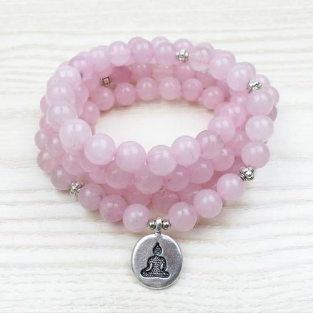Rose Quartz Mala (Love)-Beyoubebuddha