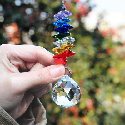 Chakra crystals chandelier sun-catcher