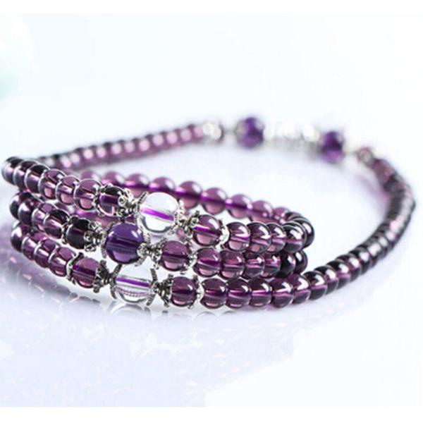Amethyst Tibetan Prayer Bead