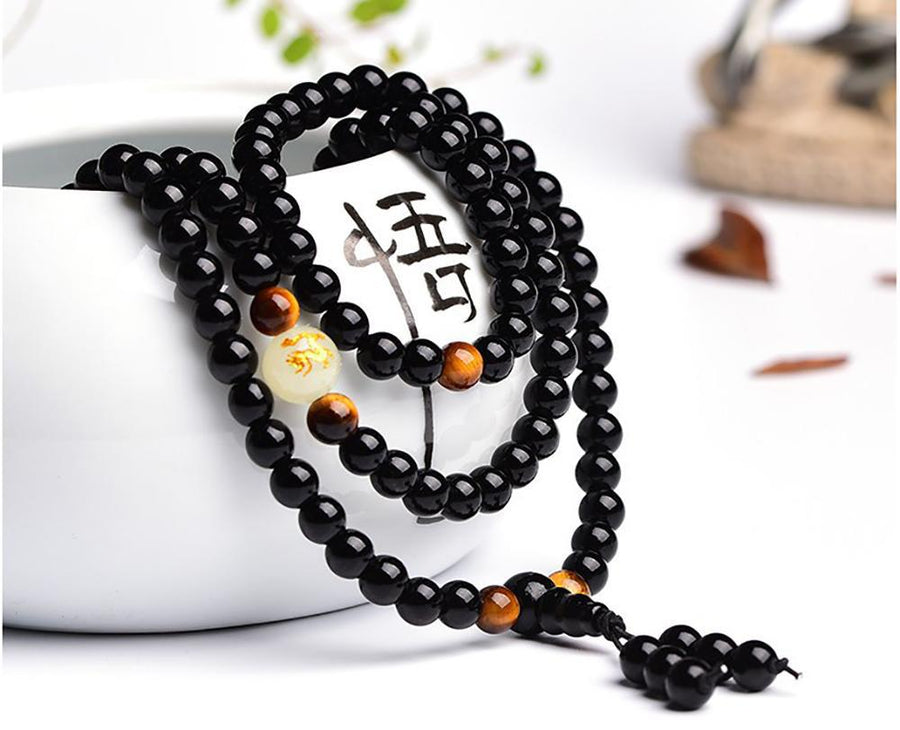 Glowing Tiger Eye Mala-Beyoubebuddha