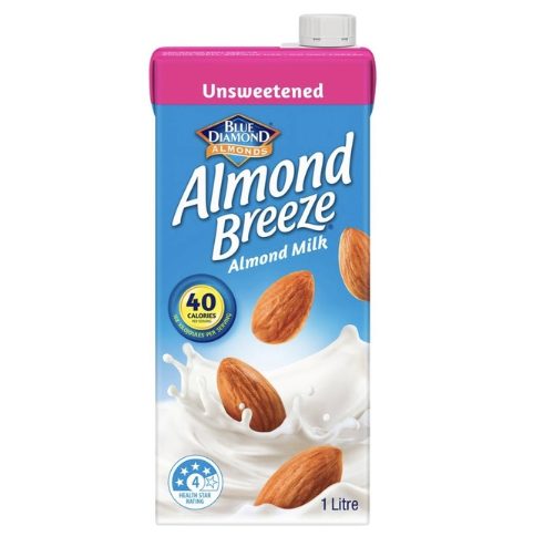 Blue Diamond Almond Breeze Unsweetened 8x 1L
