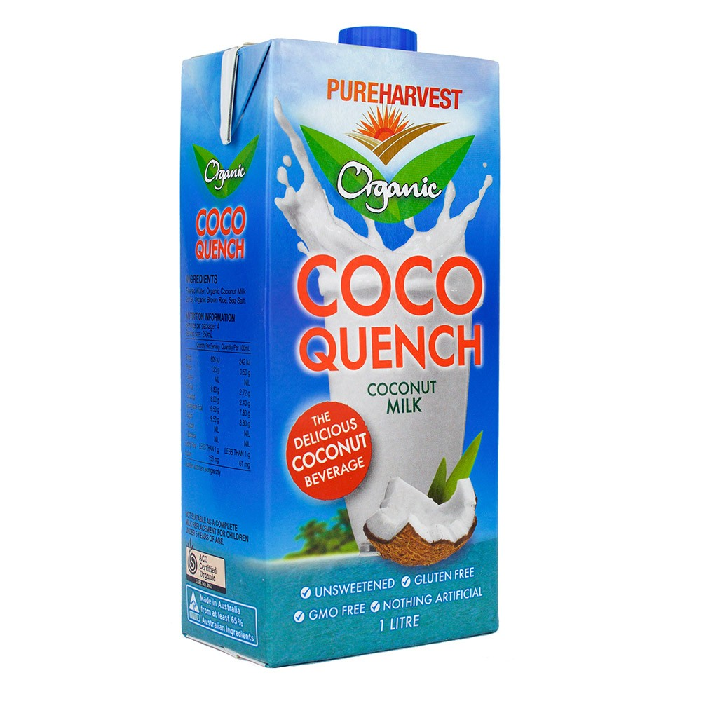 Pure Harvest Organic Coco Quench Coconut Milk 12x 1L