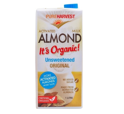 Pure Harvest Organic Almond Milk Unsweetened 12x1L