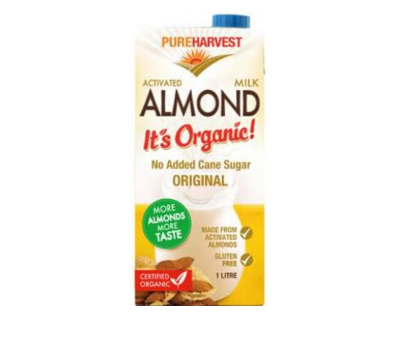 Pure Harvest Organic Almond Milk Original 12x1L