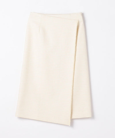 Lurex tweed asymmetric skirt