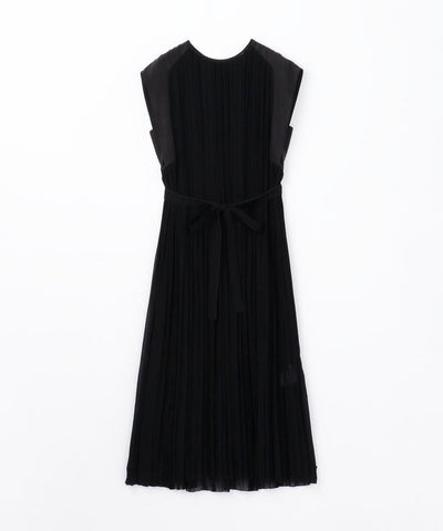 Light pleated french sleeve dress