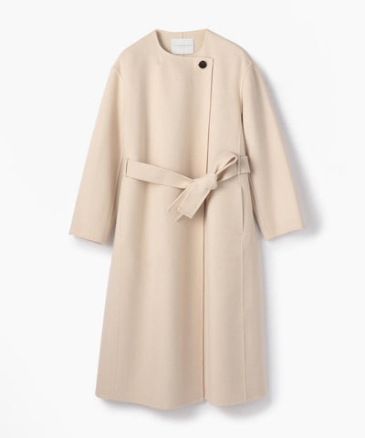 TOMORROWLAND Premium Wool River Collarless Coat