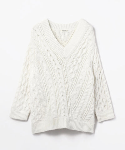 Macphee V-Neck Pullover Knits Sweater White