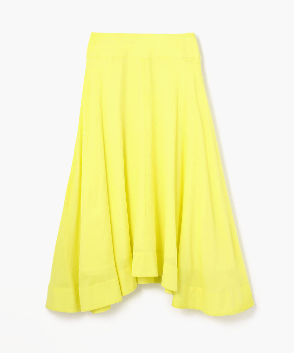 Macphee Cotton Dobby Satin Circular Skirt Yellow