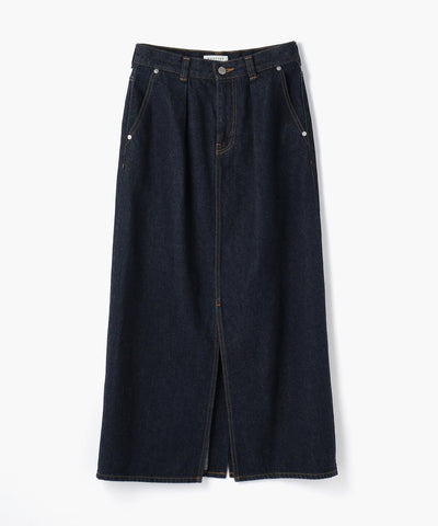 Macphee Denim Front Tuck Long Skirt
