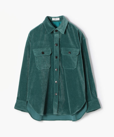 Cotton Rayon Corduroy Blouson Shirt
